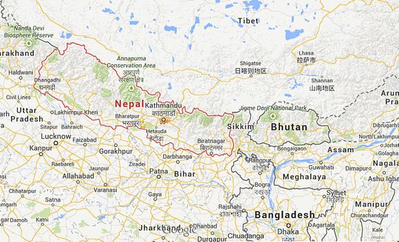 Bhutan-Nepal Map